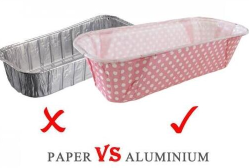 Aluminum foil container vs paper container with rim